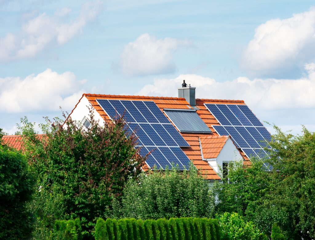 Modern House with Photovoltaic and Solar Heating System